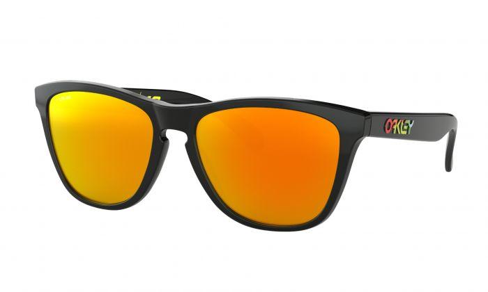 6c2a47f9e113c Oakley Frogskin Valentino Rossi Sunglasses - Gloss Black - Prizm Ruby