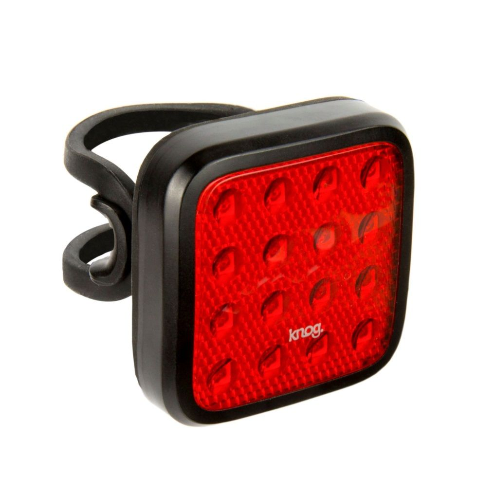 Black USB Rechargeable Knog Blinder Mob V Kid Grid Rear Light