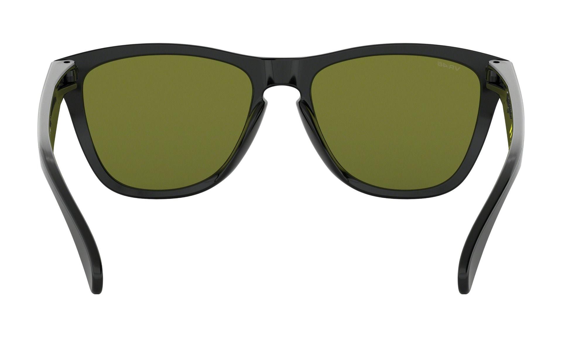Oakley Frogskin Valentino Rossi Sunglasses - Gloss Black - Prizm Ruby 3cac4839b80e