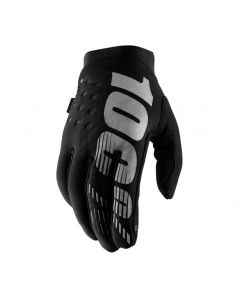 100% Brisker Cold Weather Gloves - Black/Grey