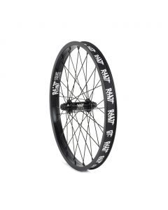 Rant Party On V2 Front Wheel - Black
