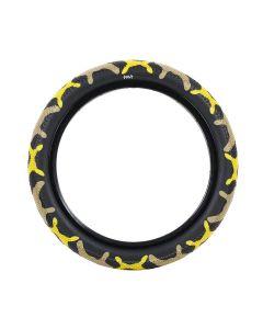 Cult Vans 14-Inch Yellow Camo Tyre